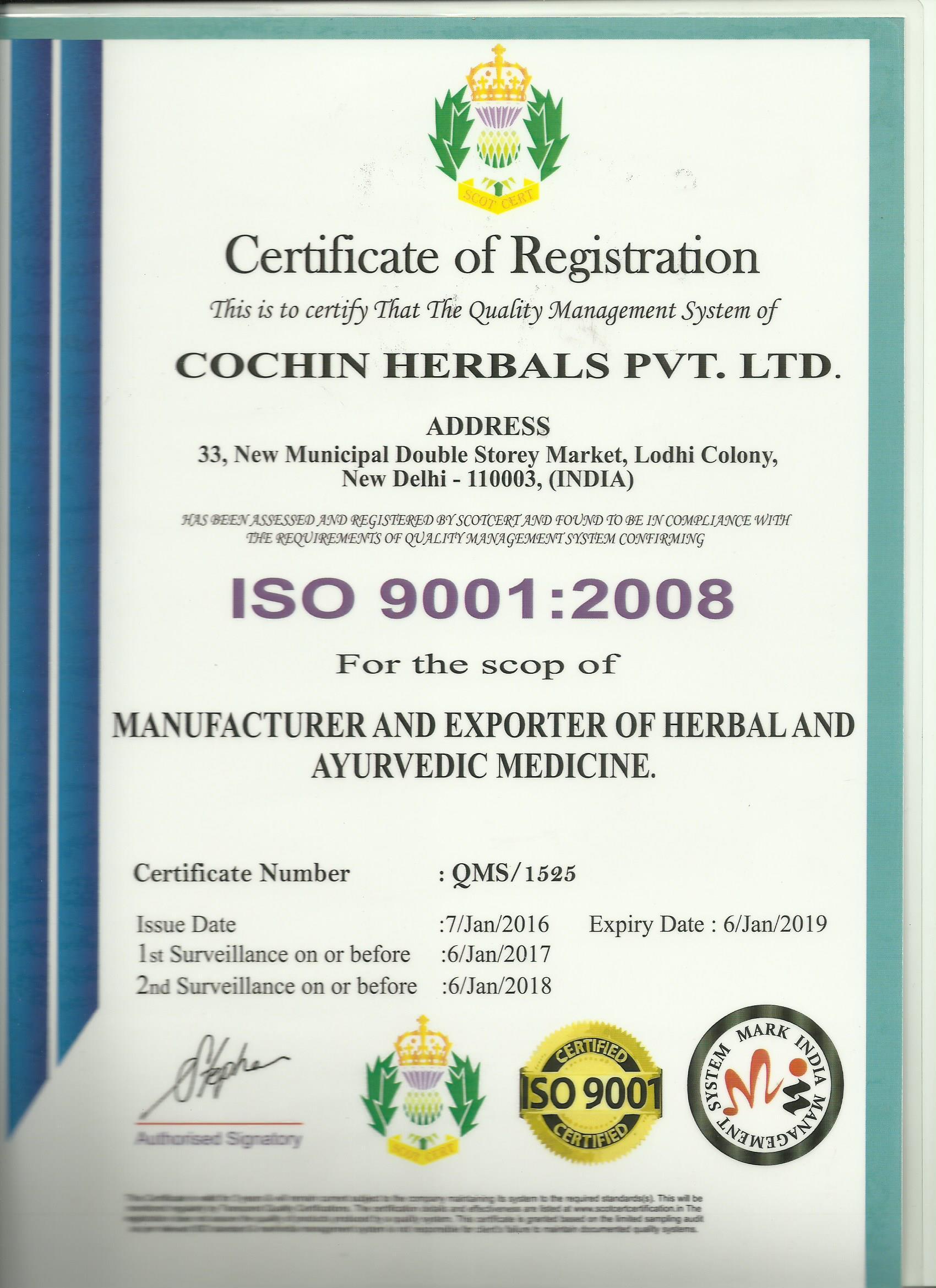 Cochin ayurvedic centre delhi india certificates xflitez Choice Image